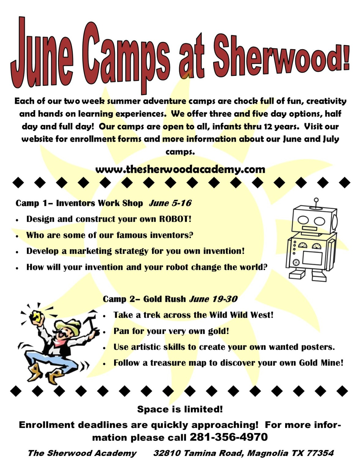June Camp Flyer